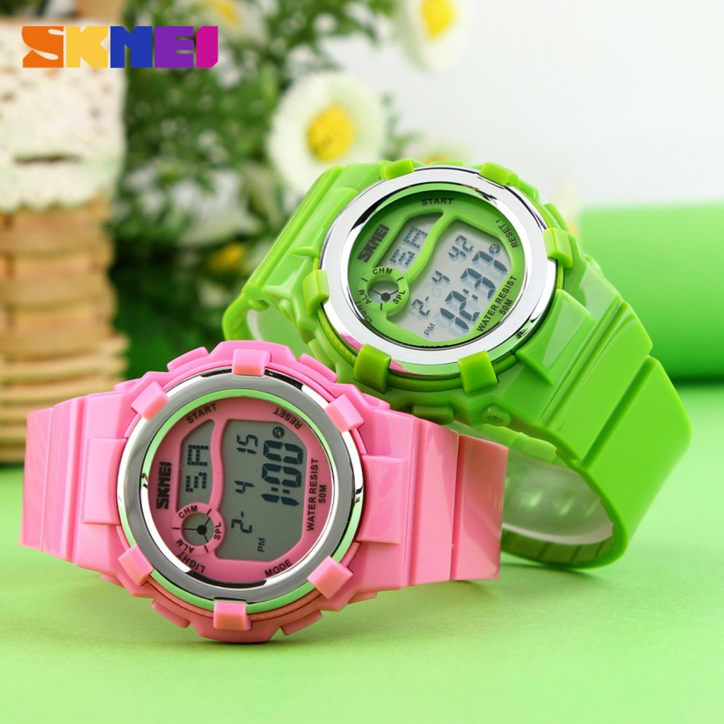 Skmei Children Sport Silicone Led Watch Water Resistant 50m Dg1161 S Shock Dg1025 Shopee Indonesia