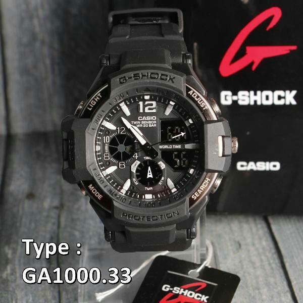 JAM TANGAN PRIA G-SHOCK CASIO GA-1000 SERI BLACK VIP  9a5a5aa6cb