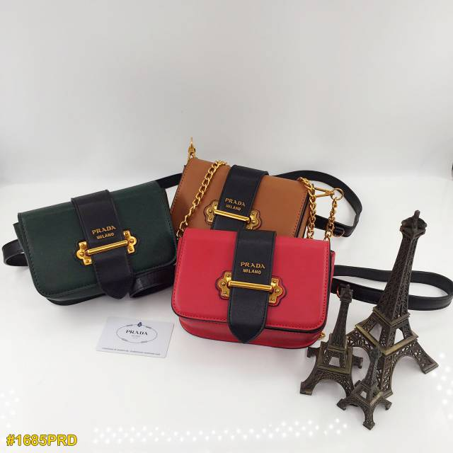 Prada 2 Way Bag Waist and Sling Bag Tas Selempang Pinggang  e4a8791f19