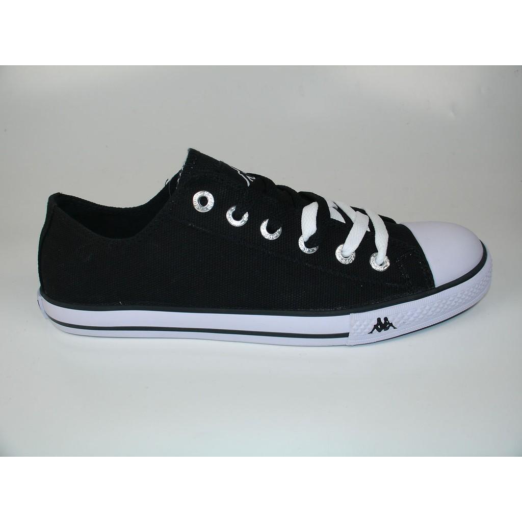 Kappa New Simple Low Sepatu Sneaker - Blk/White