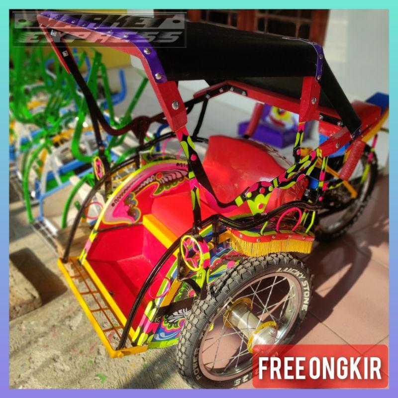 Becak mini gowes anak tradisional