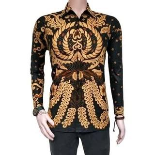 Kemeja Batik Pria Motif Gurita Sogan Coklat Batik Pekalongan d99b5fa908