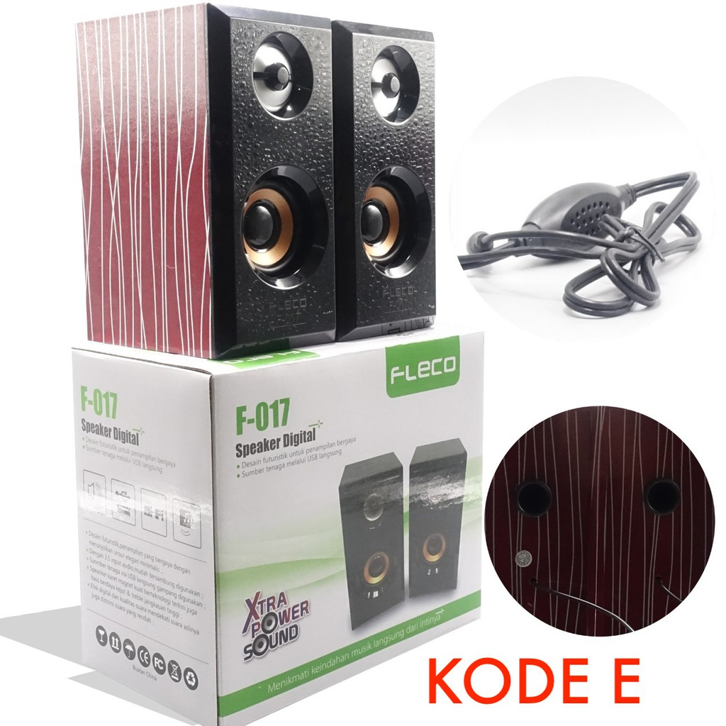 Fleco Speaker F017 F 017 17 Mini Portable 800b Update