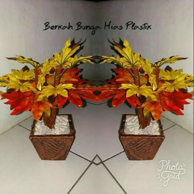 eac860d3d bunga hias plastik/pohon bonsai | Shopee Indonesia