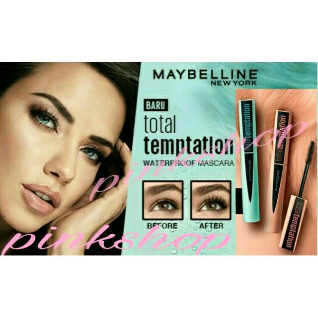 15d38a98cb2 MAYBELLINE Total Temptation Mascara Waterproof - Very Black   Shopee  Indonesia