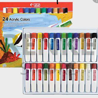 Cat Akrilik Titi 24 Warna Acrylic Colors Shopee Indonesia
