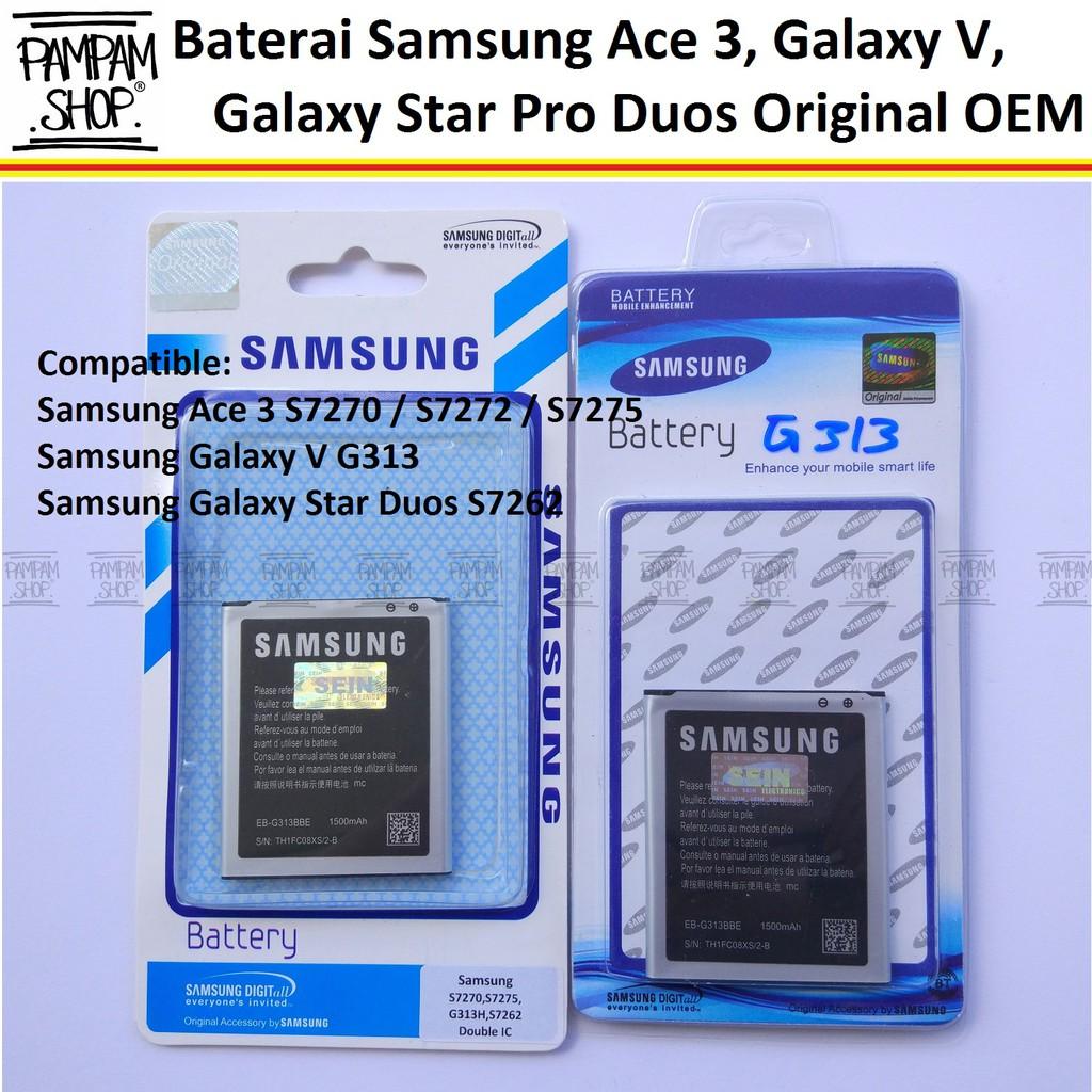 Baterai Handphone Samsung Galaxy Ace 3 S7272 Original Battery Kesing Batrai Batre Hp S 7272 Sein Shopee Indonesia