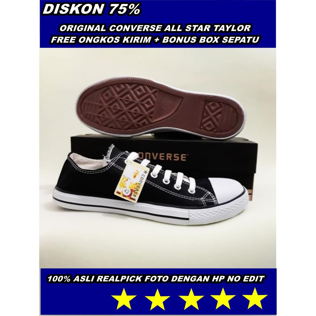 Sepatu Pria Converse Chuck Taylor All Star Ox Klasik Obral High Tinggi Hi Putih Pendek Shopee