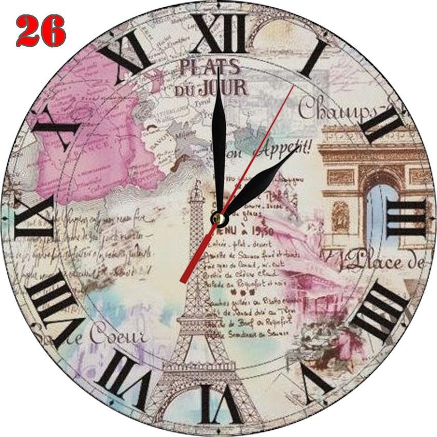 26 Natural Jam Dinding Shabby Chic Bahan MDF Perancis Menara Eiffel ... 1acd590d35
