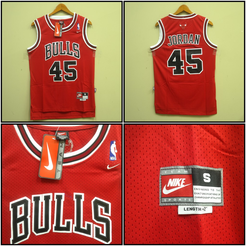 JERSEY BASKET NBA CHICAGO BULLS  45 MICHAEL JORDAN MERAH  c8120769b