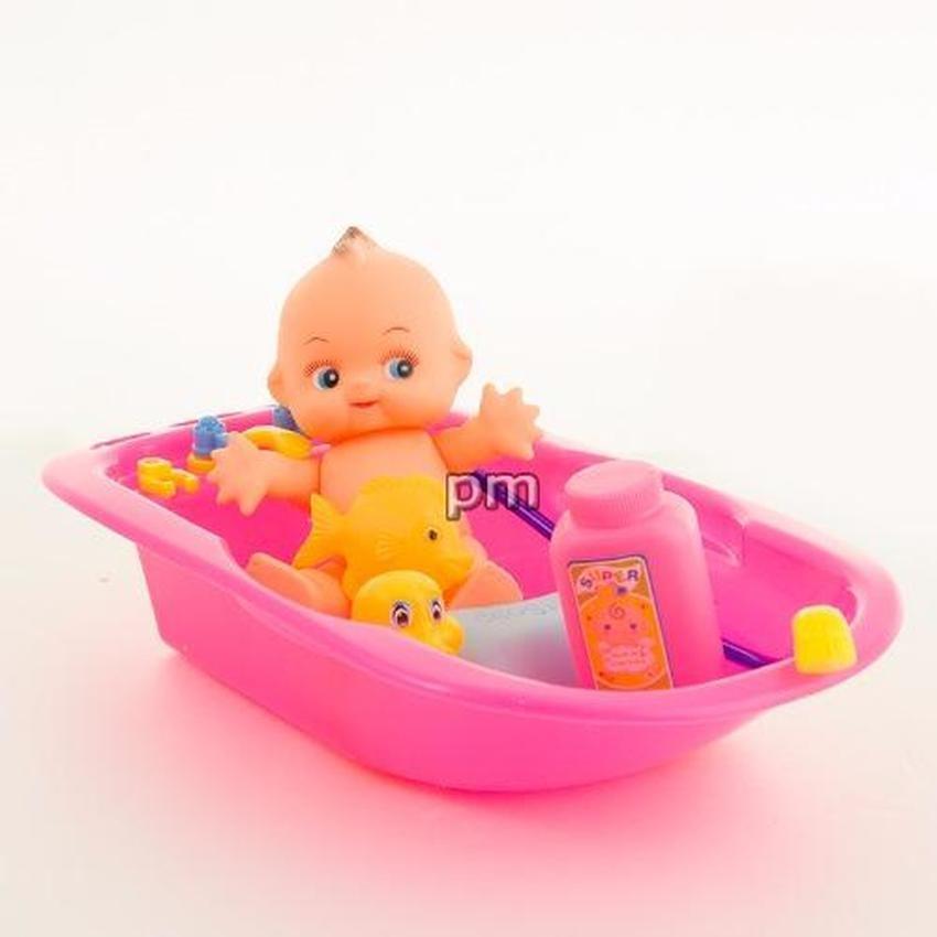 AA Toys Bath Tub Baby Doll Pink - Mainan Bak Bayi Boneka(Pink) | Shopee Indonesia