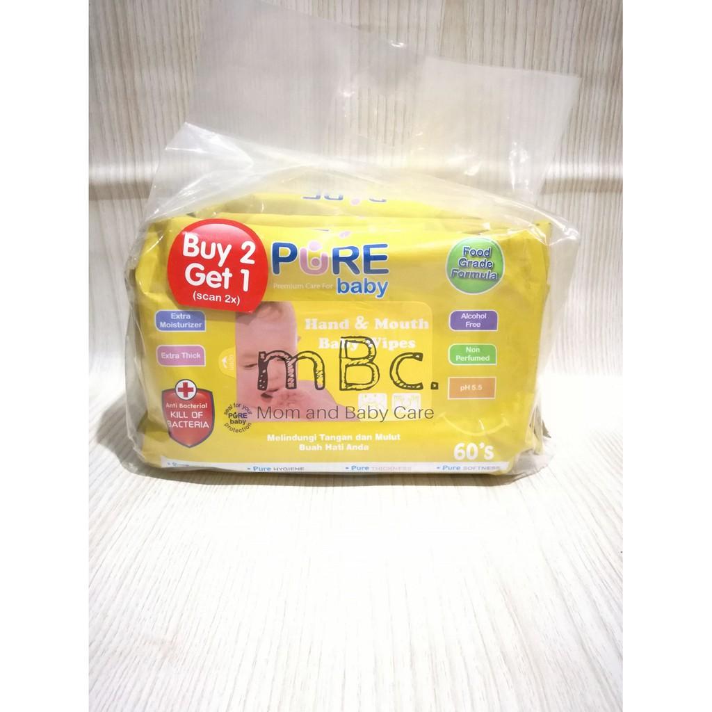 Tissue Basah Cleansing Wipes 20 Sheet Pure Baby Buy 1 Get Free Purebaby Shampoo Refill 450ml Freshy Shopee Indonesia
