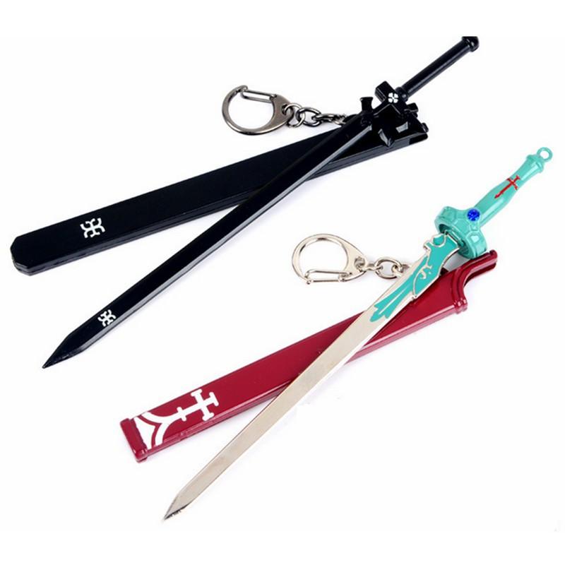 Pedang Seni Online Kirito Repulsor Elucidator Pedang Keychain