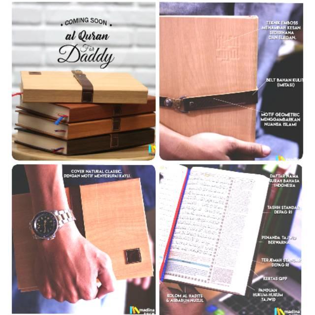 Alquran Ar Rasyad Alquran For Dad Wood Cover Madina Alquran Free Tasbih | Shopee Indonesia