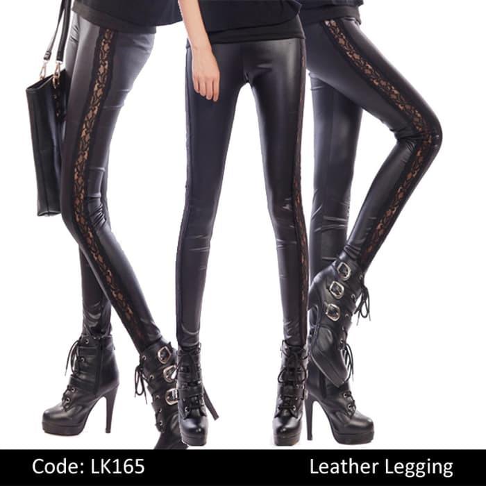 Bawahan Wanita Celana Legging Lk165 Legging Motif Sobek Promo Shopee Indonesia