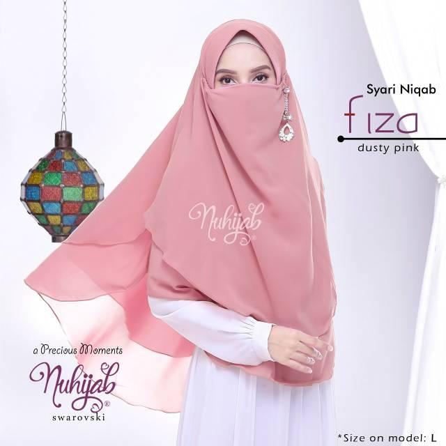 Jilbab Syar I Niqab Fiza Jilbab Cadar Premium By Nuhijab Original Shopee Indonesia