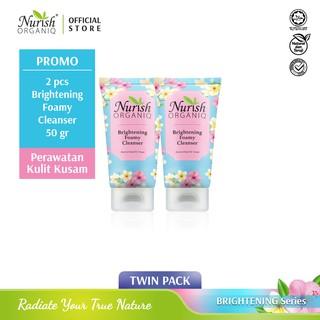 Nurish Organiq Brightening Foamy Cleanser 50ml (Twin Pack) - 2 Pcs (ED 03 2021 - 04 2021) thumbnail