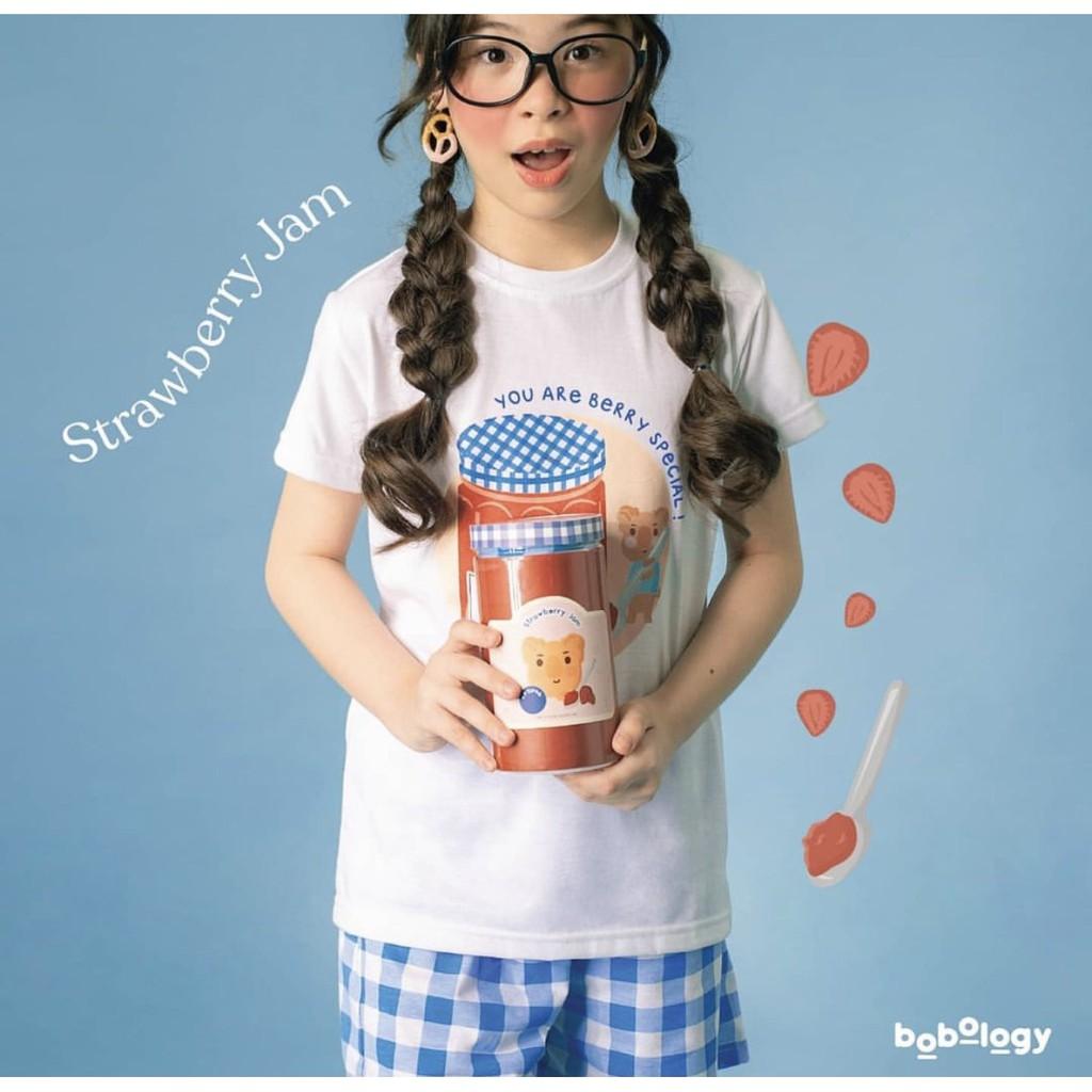 Strawberry Jam Pyjamas (Long Pants) – BOBOLOGY (Piyama PJ Baju Tidur Baju Rumah Kaos Anak)