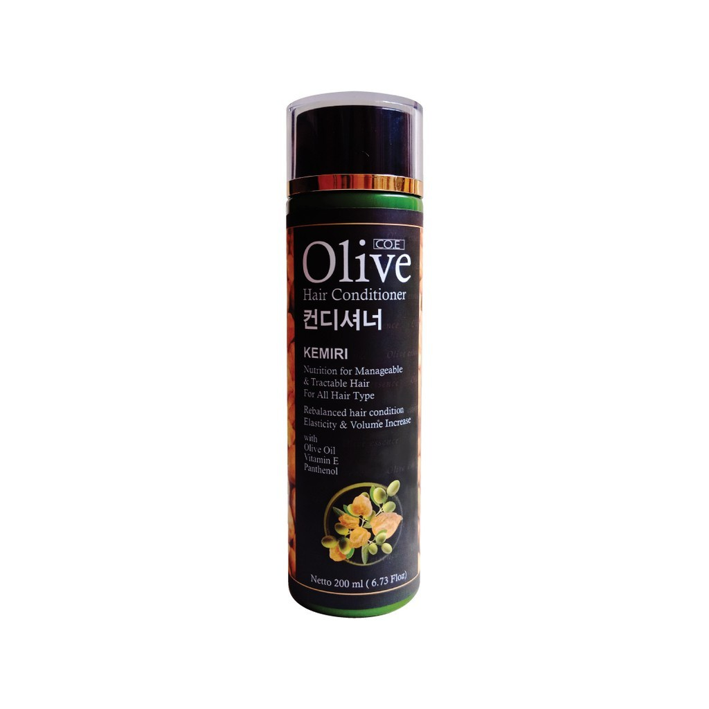 SYB CO.E Olive Hair Treatment - Shampoo Conditioner Tonic Black Kemiri Oil Mask Serum Kids-Black Conditi Kemiri