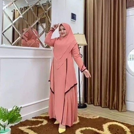 READY gamis Terbaru Jhannah Seri Eid Mubarak Original Irna Gallery