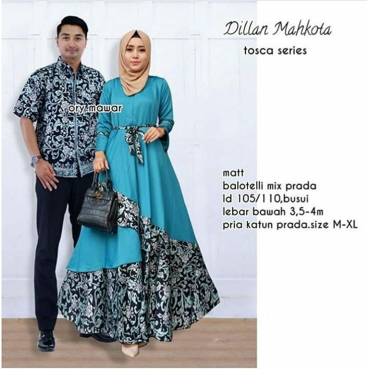 Gamis Couple Batik Suami Istri Baju Batik Sepasang Pria Wanita  m ... f3d0b90ff1