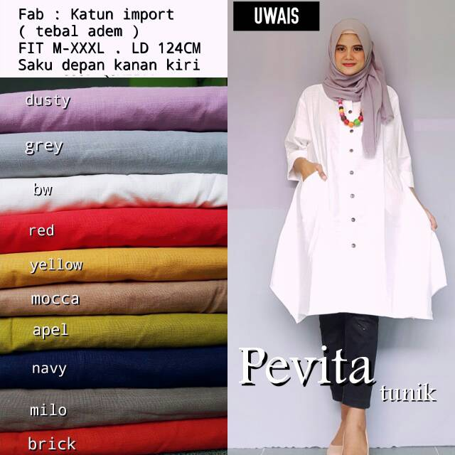 Pevita Season Navy A13 ... Source · Army Tunik .