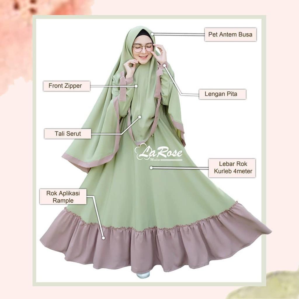 Premium Gown Party Dress Gamis Pesta Gaun Lady Fluer Mewah Muslimah Fleur By Finalovehijab Shopee Indonesia