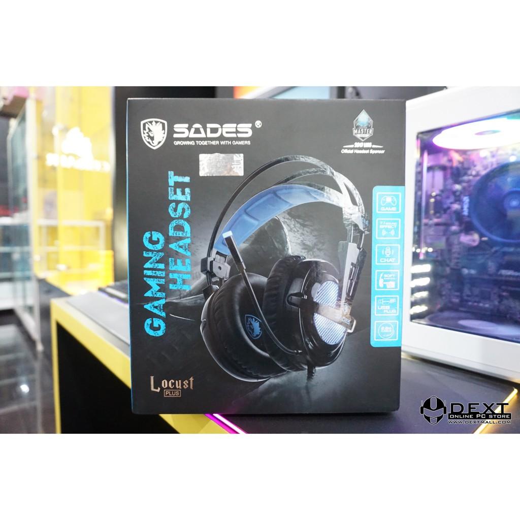 Sades Locust Plus Rgb Gaming Headset Shopee Indonesia Sa 704
