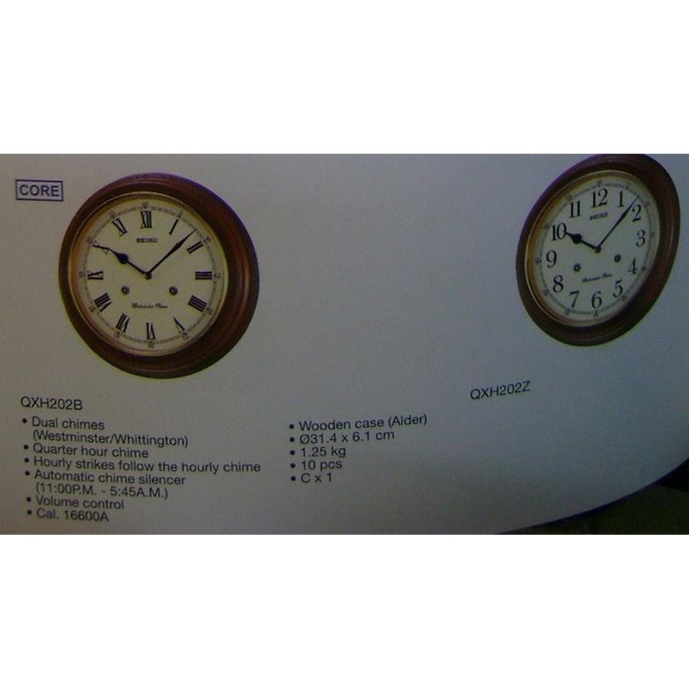 Berkualitas Jam Dinding Seiko Clock Qxh063-B Dual Chimes Pendulum  Westminster Whittington Wood Hot  097bf23732