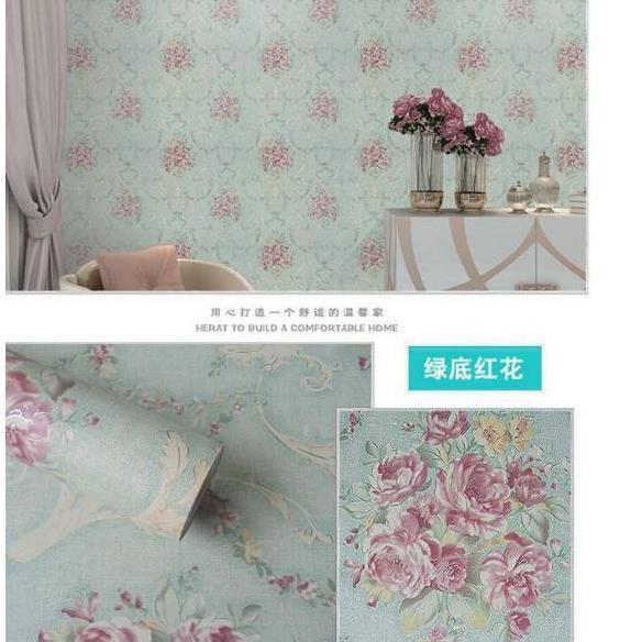 Top Wallpaper Dinding Shabby Tosca Wallpaper Shaby Tosca Ukuran 45cm10m