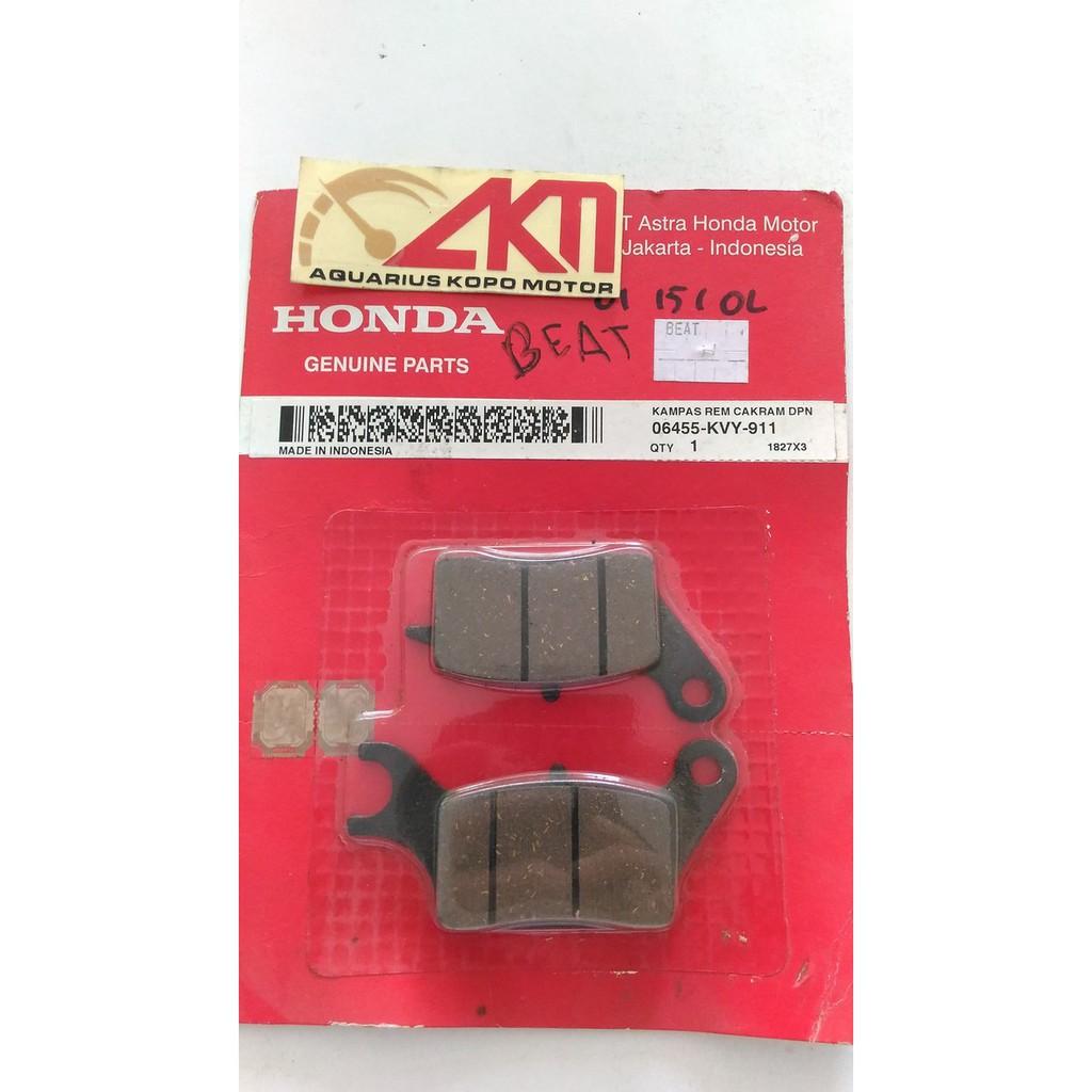 Kampas Rem Honda Daftar Harga November 2018 Pencuci Mesin Cuci Cakram Depan Beat Karbu Lama Ahm Discpad Original