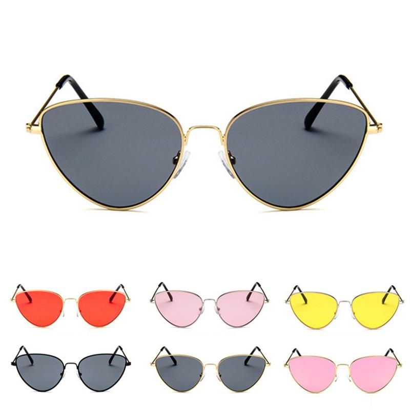 New Fashion wanita Cat Eye Kacamata Retro Wanita Logam Laut Cermin Sunglass  UV400 import  09affddaf6