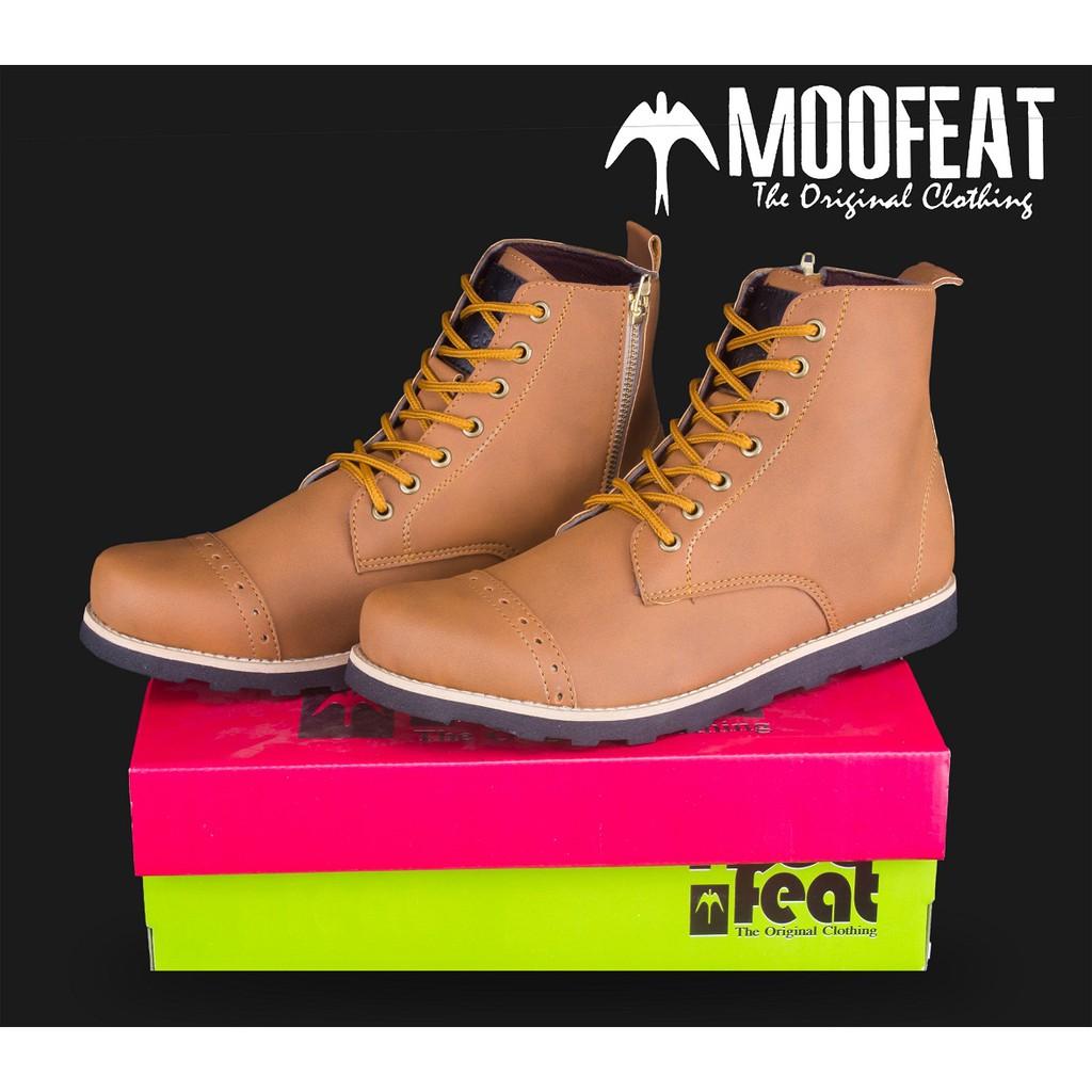 Sepatu Boots Keren Merk Moofeat Edward Ring Tan Harga Murah  69ae3b6ed7