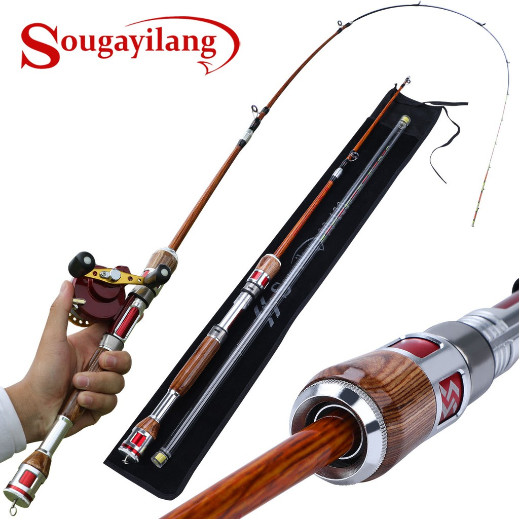 Sougayilang 2 Section Raft Fishing Rod Telescopic Canbon ...
