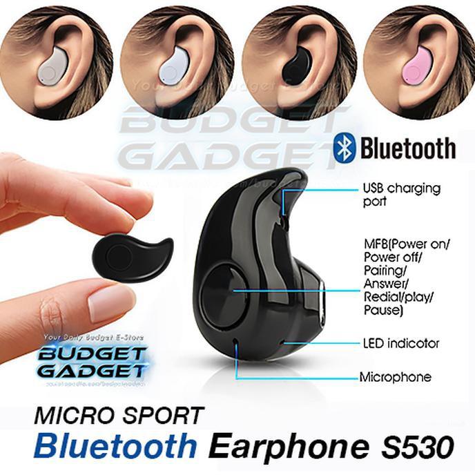 JUAL Micro Sport Stereo Bluetooth Earphone Wireless - S530 | Shopee Indonesia
