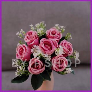 artificial rose purple bouquet bunga mawar ungu buket