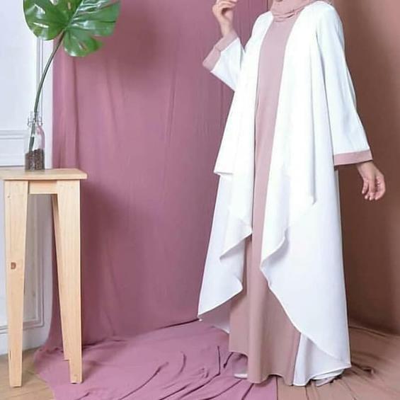Terlaris azkia maxi dress muslim / gamis murah /grosir baju hijab bandung Diskon,.,..