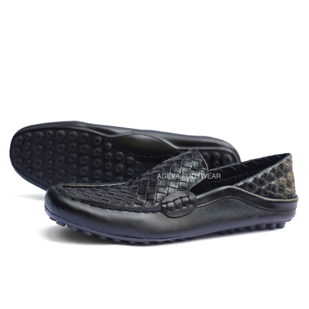 G S Cocoes Moccasin Ballerino Sepatu Slip On Loafers Pria Mocasin Decano Black Moocasin Kulit Formal Shopee Indonesia