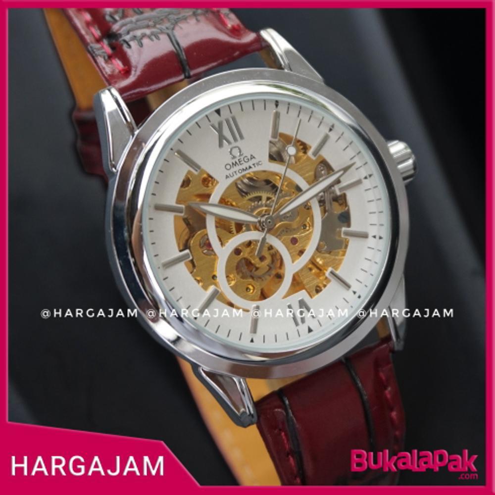 DISKON Jam Tangan Pria Automatic Rolex Skeleton by hargajam matic otomatis  transpaean mesin 1021  4635874493