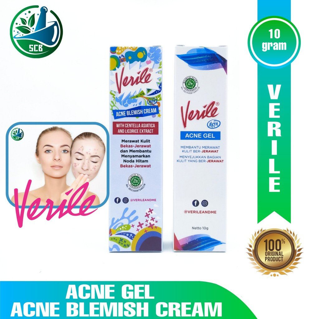 Verile Acne Gel / Acne Blemish / Facial Wash - Melawan ...