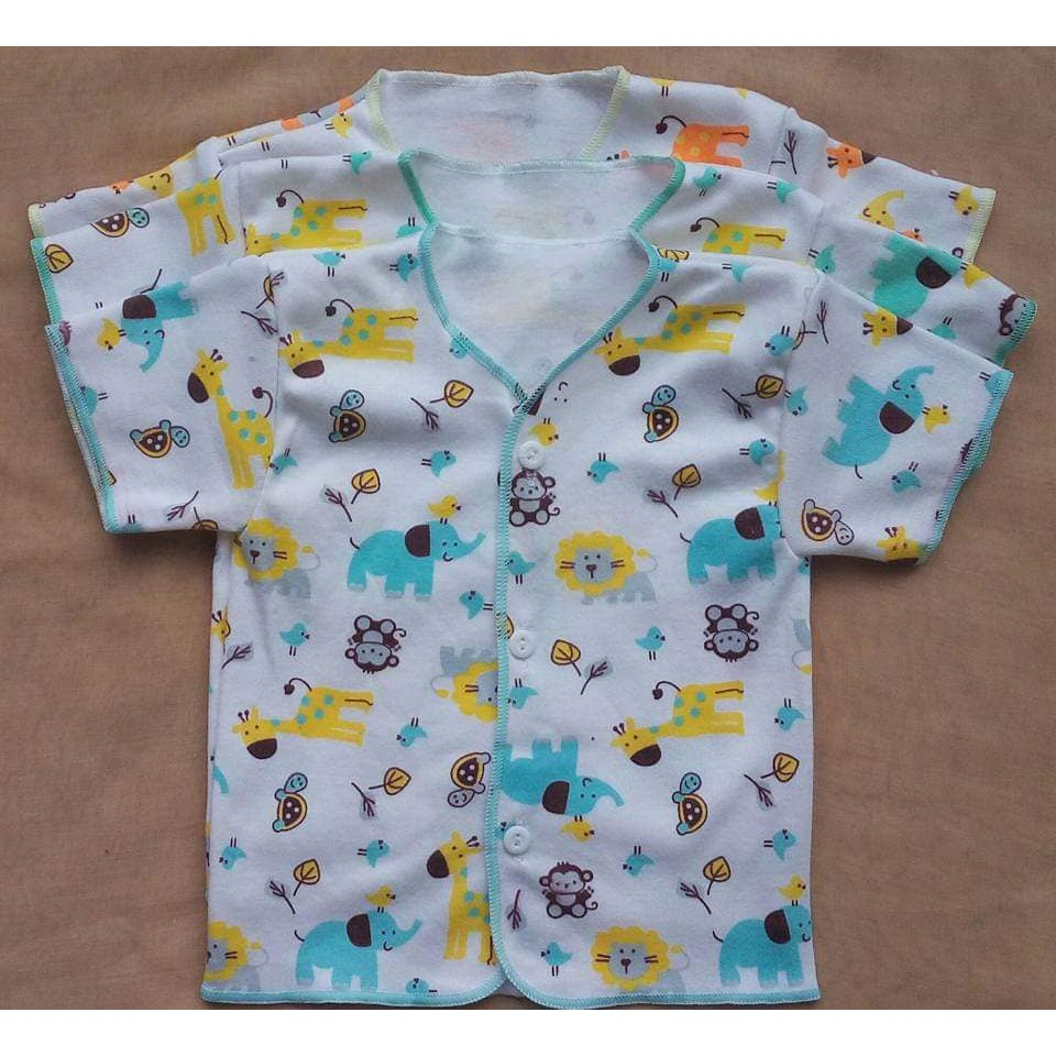 6 Baju Bayi Baru Lahir Newborn Motif Baju Pendek Laki Laki Perempuan Karakter Shopee Indonesia