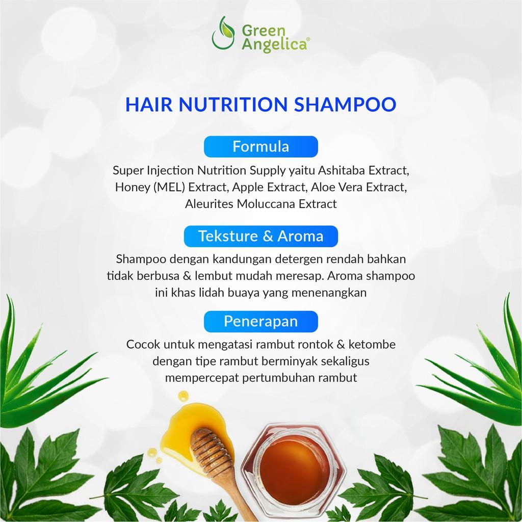 Shampoo Green Angelica Perawatan Rambut Rontok Mengatasi Ketombe-6