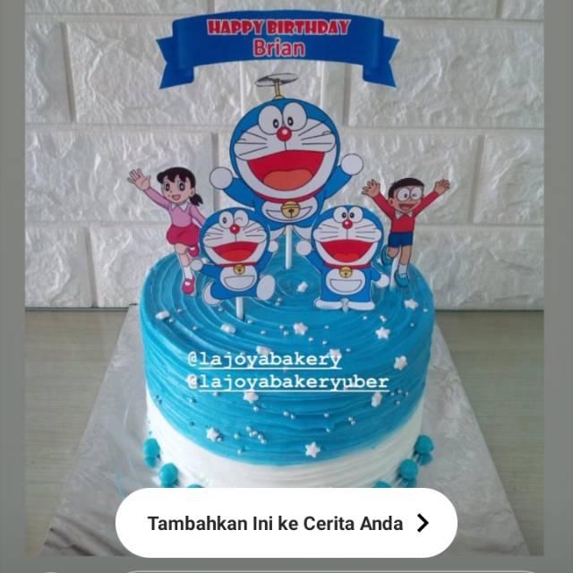 Doraemon N Friend Nobita Sizuka Birthday Cake Kue Ulang Tahun Shopee Indonesia