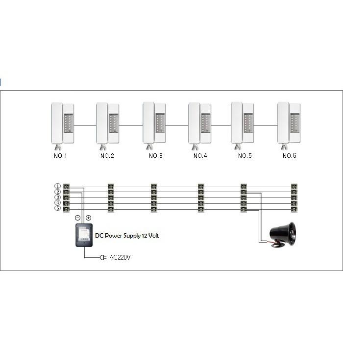 interphone intercom kabel commax tp 6rc maks 6 channel