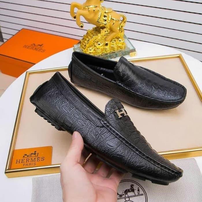 Sepatu Loafer Hermes Mirror Quality Semua Merek Lv Prada Fendi Ada