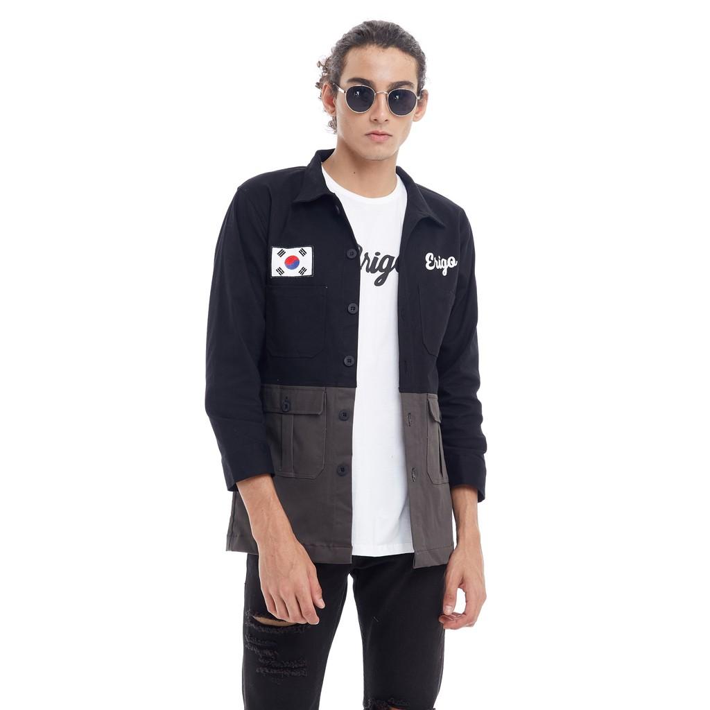Erigo Sukajan Oshiro Black Unisex Shopee Indonesia Workpants Haneba Size M