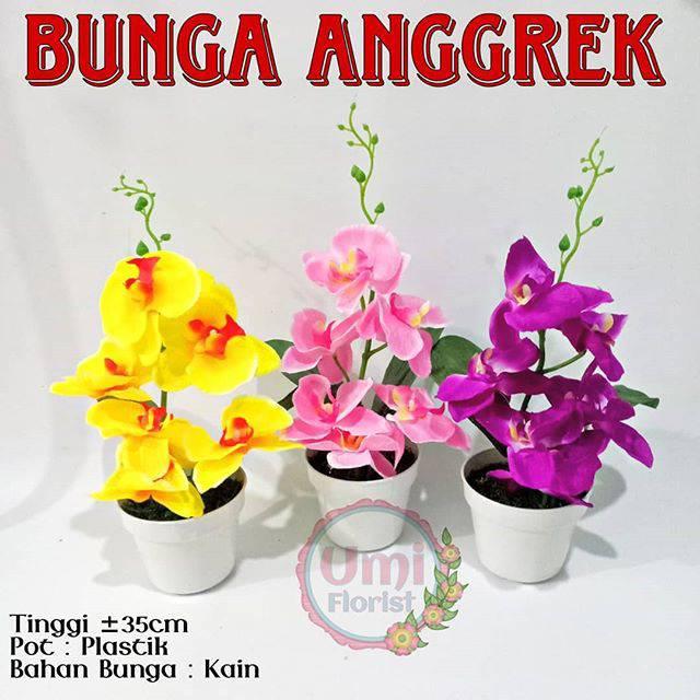 Bunga Anggrek Pot Plastik  483a6d0282