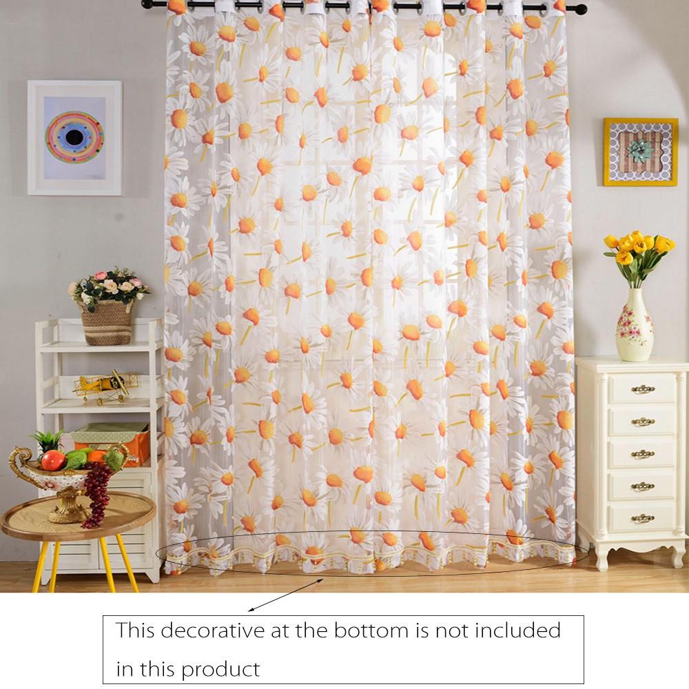 F Life Gorden Pintu Jendela Transparan Motif Floral Shopee Indonesia Hello Kitty Tirai Shower Polyester 180x180cm