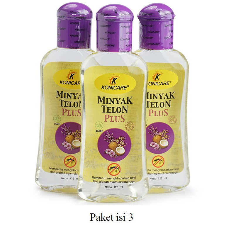 [isi 3] Konicare minyak telon plus ungu 125ml 125 ml Paket Hemat isi 3