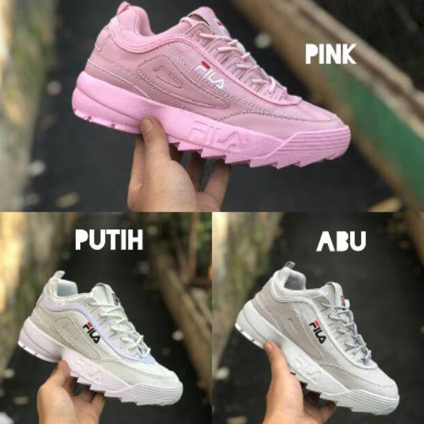 Promo Sepatu Fila Disruptor Ii 2 Sepatu Wanita Fila Distrubtor Sneakers  Kets Promo New Murah . 20fcc5bfd3